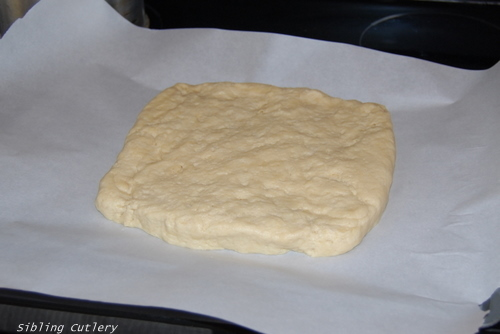 shortcake dough square