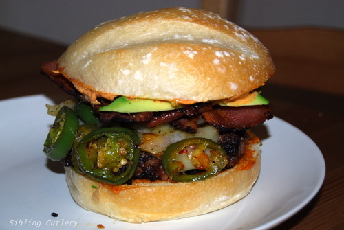 Hell burger stacked
