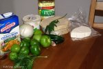 Ingredients for Chilaquiles